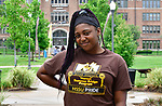 Britney Christian at Harris-Stowe State University in St. Louis on Wednesday August 15, 2018.    Photo by Tim Vizer