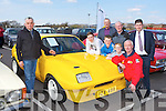 Admiring the 1975 Opel Chevette at the Opel open day at Ahern's Garage Castleisland on Saturday was Eddie Casey left with front row l-r: Vincent Horan, Gary Horan, Sean Horan, Paul Bruce all Tralee. Back row Diarmuid O'Rourke Tralee, John Sugrue Rathkeale and Pat Ahern, ..
