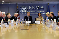 U.S. President Donald Trump and First Lady Melania Trump attend the 2018 Hurricane Briefing at the FEMA headquarters on June 6, 2018 in Washington, DC. <br /> <br /> CAP/MPI/RS<br /> &copy;RS/MPI/Capital Pictures