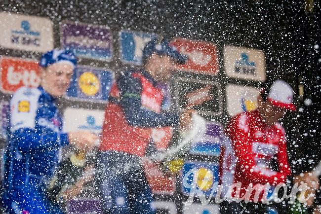 podium champaign erupotion<br /> <br /> 57th Brabantse Pijl - La Fl&egrave;che Braban&ccedil;onne (1.HC)<br /> 1 Day Race: Leuven &rsaquo; Overijse (197km)