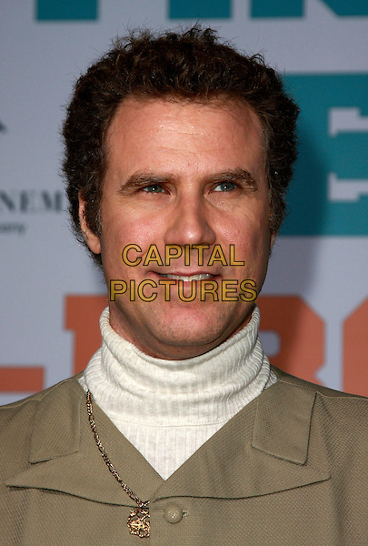 "WILL FERRELL.""Semi-Pro"" Los Angeles Premiere at Mann's Village Theatre, Westwood, California, USA. .February 19th, 2008.headshot portrait high white collar polo neck turtleneck .CAP/ADM/CH.©Charles Harris/AdMedia/Capital Pictures"