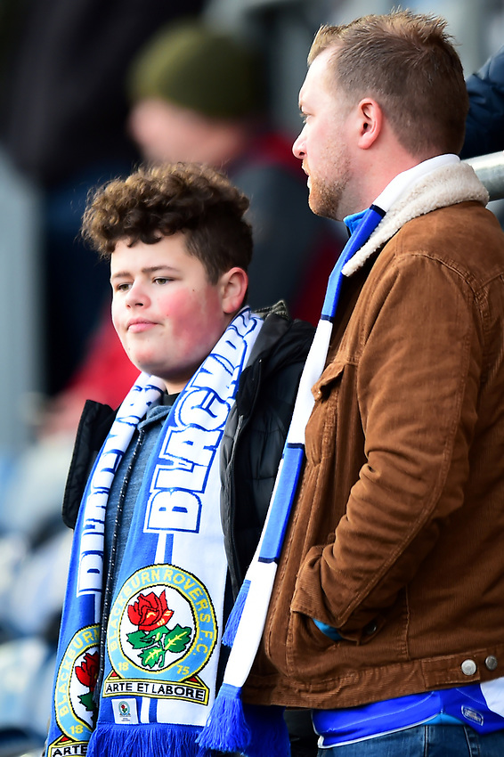 Blackburn Rovers fans look on<br /> <br /> Photographer Richard Martin-Roberts/CameraSport<br /> <br /> The EFL Sky Bet Championship - Blackburn Rovers v West Bromwich Albion - Tuesday 1st January 2019 - Ewood Park - Blackburn<br /> <br /> World Copyright © 2019 CameraSport. All rights reserved. 43 Linden Ave. Countesthorpe. Leicester. England. LE8 5PG - Tel: +44 (0) 116 277 4147 - admin@camerasport.com - www.camerasport.com