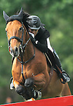 Spain's jockey Sergio Alvarez Moya with the horse Abab Van Het Molenhof during 102 International Show Jumping Horse Riding, Gran Prix of Madrid-Volvo Throphy.May, 19, 2012. (ALTERPHOTOS/Acero)