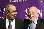 George C. Wolfe and Hal Prince attends the 16th Annual Monte Cristo Award ceremony honoring George C. Wolfe presented by The Eugene O'Neill Theater Center at Edison Ballroom on May 9, 2016 in New York City.