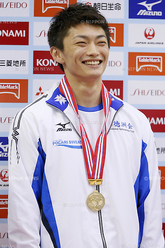 Kohei Kameyama, JULY 6, 2014 - Artistic Gymnastics : The 68th All Japan Artistic Gymnastics Apparatus Championship, Men's Pommel horse Medal ceremony at Chiba Port Arena, Chiba, Japan. (Photo by Yusuke Nakanishi/AFLO SPORT)