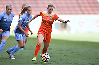 Houston, TX - Saturday May 13, 2017: Houston Dash forward Kealia Ohai (7) during a regular season National Women's Soccer League (NWSL) match between the Houston Dash and Sky Blue FC at BBVA Compass Stadium. Sky Blue won the game 3-1.