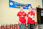 l-r  Aishling O'Keeffe and Catriona Casey  in the handball Munster Finals at Ballymac Handball Club on Saturday