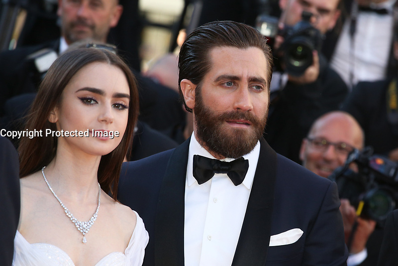 LILY COLLINS AND JAKE GYLLENHAAL - RED CARPET OF THE FILM 'OKJA' AT THE 70TH FESTIVAL OF CANNES 2017