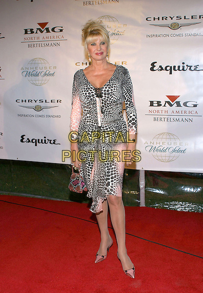 IVANA TRUMP.Clive Davis Hosts A Celebration Of The American Music Awards held at The Esquire House. .14 November 2004.full length, animal print, leopard print.www.capitalpictures.com.sales@capitalpictures.com.© Capital Pictures.