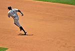 17 June 2012: New York Yankees center fielder Curtis Granderson rounds the bases after hitting a home run against the Washington Nationals at Nationals Park in Washington, DC. The Yankees defeated the Nationals 4-1 to sweep their 3-game series. Mandatory Credit: Ed Wolfstein Photo