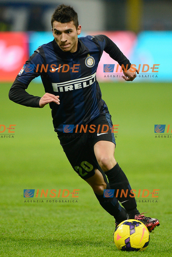Ruben Botta Inter<br /> Milano 09-02-2014 Stadio Giuseppe Meazza - Football 2013/2014 Serie A. Inter - Sassuolo Foto Giuseppe Celeste / Insidefoto