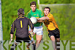 Kieran O'Connor(Emmets) and Eamonn Fitzmaurice(Finugue) in O'Sullivan Park last Saturday evening.