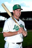 Clinton LumberKings third baseman Patrick Kivlehan #47 poses for a photo before a game against the Burlington Bees on May 23, 2013 at Ashford University Field in Clinton, Iowa.  Clinton defeated Burlington 6-5.  (Mike Janes/Four Seam Images)