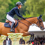 Day 5. Royal Windsor Horse Show. Windsor. Berkshire. UK.  Showjumping. Palm Speed Stakes. CSI5*. Lauren Hough riding Absolhut. USA. 13/05/2018. ~ MANDATORY Credit Elli Birch/Sportinpictures - NO UNAUTHORISED USE - 07837 394578