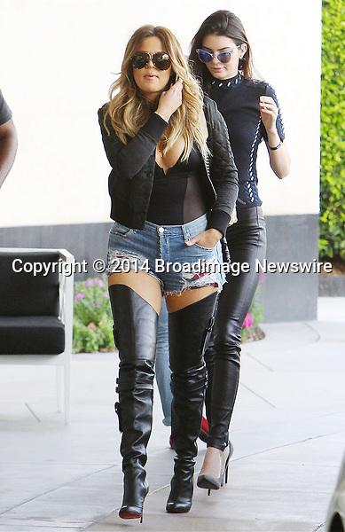 Pictured: Khloe Kardashian, Kendall Jenner <br /> Mandatory Credit &copy; ACLA/Broadimage<br /> Khloe Kardashian arriving at Loews Hollywood Hotel<br /> <br /> 3/7/14, Hollywood, California, United States of America<br /> <br /> Broadimage Newswire<br /> Los Angeles 1+  (310) 301-1027<br /> New York      1+  (646) 827-9134<br /> sales@broadimage.com<br /> http://www.broadimage.com