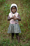 A girl in Mount Barclay, Liberia.