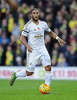 Ashley Williams of Swansea City during the Barclays Premier League match between Norwich City and Swansea City played at Carrow Road, Norwich on November 7th 2015