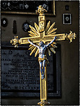 Golden crucifix, Parrocchia Santa Maria in Porto, Roman Catholic Church, Ravenna, Italy