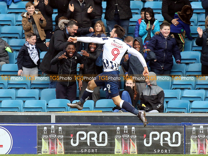 Lee Gregory celebrates scoring Millwall's opening goal during Millwall vs MK Dons, Sky Bet EFL League 1 Football at The Den on 4th March 2017