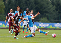 Manolo Gabbiadini durante l'amichevole precampionate tra Napoli e Cittadella   Dimaro 29 Luglio 2015<br /> <br /> Friendly soccer match between   SSC Napoli  in Dimaro Italy July 28, 2015