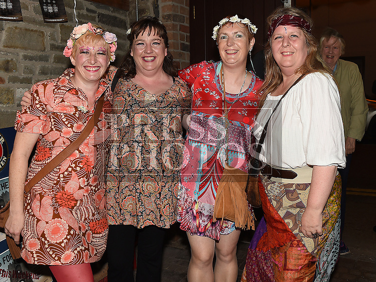 Eimear Davis celebrating her 50th birthday in Sarsfields with friends Caroline Redmond, Sorcha Dignam and Ann Gielty. Photo:Colin Bell/pressphotos.ie