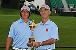 Captain Corie Pavin with Rickie Fowler at the USA Team presentation for the 2010 Ryder Cup at the Celtic Manor Twenty Ten Course, Newport, Wales, 28th September 2010..(Picture Eoin Clarke/www.golffile.ie)