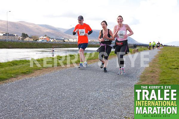 0249 John Hanafin 0131 Joanne Curran 0090 Caroline Clifford  who took part in the Kerry's Eye, Tralee International Marathon on Saturday March 16th 2013.