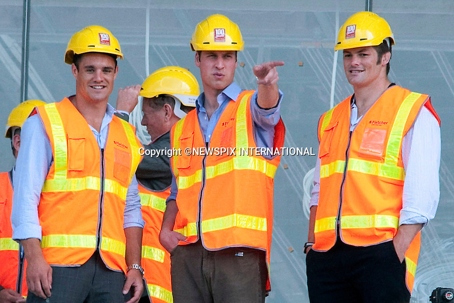 """PRINCE WILLIAM LIKE MUM PRINCESS DIANA_.Prince William strikes a similar pose to Princess Diana's of having both hands in his pockets. Diana wearing a hard hat was photographed in similar pose when she visited Canberra to view the Parliament buildings developement in 1985..Prince William visited Eden Park rugby stadium on the first day of his official royal visit to New Zealand. During the visit the Prince toured the redevelopment site wearing a hard hat and florescent jacket with the New Zealand Prime Minister John Key.The Prince also participated in a game of catch with some youths from the local Pakuranga Rugby Club and meet Richie McCaw, Dan Carter, John Afoa, Ali Williams, Tony Woodcock, Keven Mealamn, Jerome Kaino and Anthony Boric from the current New Zealand All Blacks.Eden Park Rugby Stadium, Auckland_17/01/2010.Mandatory Credit Photo: ©DIAS-NEWSPIX INTERNATIONAL..**ALL FEES PAYABLE TO: """"NEWSPIX INTERNATIONAL""""**..IMMEDIATE CONFIRMATION OF USAGE REQUIRED:.Newspix International, 31 Chinnery Hill, Bishop's Stortford, ENGLAND CM23 3PS.Tel:+441279 324672  ; Fax: +441279656877.Mobile:  07775681153.e-mail: info@newspixinternational.co.uk"""