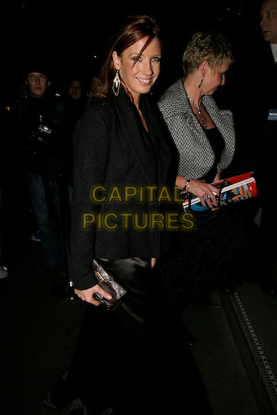 "KELLY REILLY.Aftershow Party for ""Mrs Henderson Presents"" at Floridita London, UK..November 23rd, 2005.Ref: AH.full length black coat.www.capitalpictures.com.sales@capitalpictures.com.© Capital Pictures."
