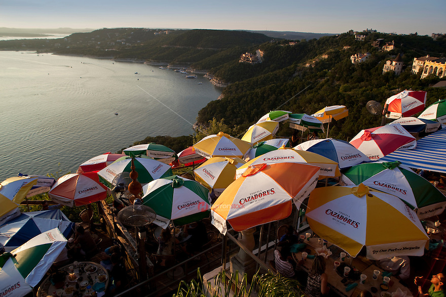 Colorful Lake Travis Restaurant overlooks Hippie Hollow