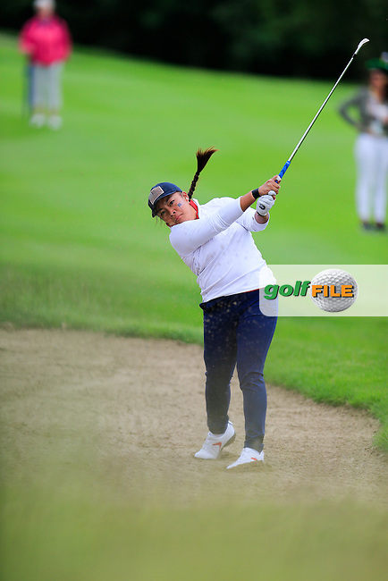 Mariel Galdiano during Sunday Singles matches at the 2016 Curtis cup from Dun Laoghaire Golf Club, Ballyman Rd, Enniskerry, Co. Wicklow, Ireland. 12/06/2016.<br /> Picture Fran Caffrey / Golffile.ie<br /> <br /> All photo usage must carry mandatory copyright credit (&copy; Golffile | Fran Caffrey)