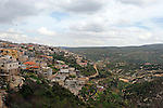 Israel, Upper Galilee. A view of the Druze village Beth Jan