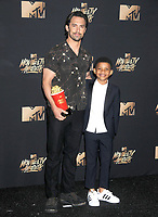 Milo Ventimiglia &amp; Lonnie Chavis at the 2017 MTV Movie &amp; TV Awards at the Shrine Auditorium, Los Angeles, USA 07 May  2017<br /> Picture: Paul Smith/Featureflash/SilverHub 0208 004 5359 sales@silverhubmedia.com