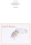 SnowyOwl_XmasCARD<br /> Standard format notecard, 7&quot; X 5&quot; (folded) glossy card stock, blank inside, includes matching envelope and clear presentation bag.