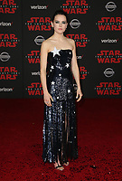 LOS ANGELES, CA - DECEMBER 9: Daisy Ridley at the World Premiere of Lucasfilm's Star Wars: The Last Jedi at The Shrine Auditorium in Los Angeles, California on December 9, 2017.  Credit: Faye Sadou/MediaPunch /NortePhoto.com NORTEPHOTOMEXICO