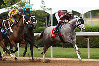 HOT SPRINGS, AR - April 14: Chanel's Legacy #1 with jockey Alex Birzer aboard sets the pace in the Fantasy Stakes at Oaklawn Park on April 14, 2017 in Hot Springs, AR. (Photo by Ciara Bowen/Eclipse Sportswire/Getty Images)