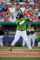 Kane County Cougars Tim Susnara (1) during a Midwest League game against the Dayton Dragons on July 20, 2019 at Northwestern Medicine Field in Geneva, Illinois.  Dayton defeated Kane County 1-0.  (Mike Janes/Four Seam Images)