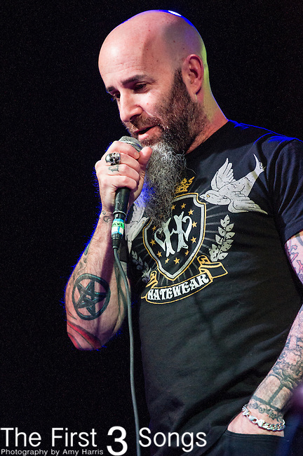 Scott Ian of Anthrax speaks during his 'Speaking Words' Tour at the Agora Theater in Cleveland, Ohio.