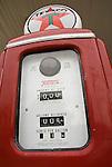 Red Texaco gas pumps at the Lynchburg, Tenn, Welcome Center.