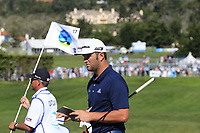 Jon Rahm (ESP) on the 17th green at Pebble Beach course during Friday's Round 2 of the 2018 AT&amp;T Pebble Beach Pro-Am, held over 3 courses Pebble Beach, Spyglass Hill and Monterey, California, USA. 9th February 2018.<br /> Picture: Eoin Clarke | Golffile<br /> <br /> <br /> All photos usage must carry mandatory copyright credit (&copy; Golffile | Eoin Clarke)