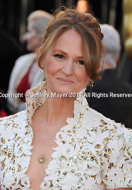 HOLLYWOOD, CA - FEBRUARY 27: Melissa Leo arrives at the 83rd Annual Academy Awards at the Kodak Theatre on February 27, 2011 in Hollywood, California.