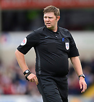 Referee Brett Huxtable<br /> <br /> Photographer Chris Vaughan/CameraSport<br /> <br /> The EFL Sky Bet League One - Lincoln City v Sunderland - Saturday 5th October 2019 - Sincil Bank - Lincoln<br /> <br /> World Copyright © 2019 CameraSport. All rights reserved. 43 Linden Ave. Countesthorpe. Leicester. England. LE8 5PG - Tel: +44 (0) 116 277 4147 - admin@camerasport.com - www.camerasport.com