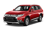 2016 Mitsubishi Outlander Intense Premium 5 Door SUV Angular Front stock photos of front three quarter view