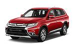 2016 Mitsubishi Outlander Intense Premium 5 Door SUV Angular Front stock photos of front three quarter view