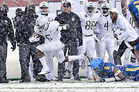 PHILADELPHIA, PA - DEC 9, 2017: Army Black Knights running back Kell Walker (5) breaks a tackle for a long gainn during game between Army and Navy at Lincoln Financial Field Philadelphia, PA. Army defeated Navy 14-13 to win the Commander in Chief Cup. (Photo by Phil Peters/Media Images International)