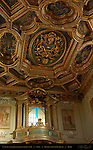 Loggia over Entrance Fish-Hook Symbol Papal Tiara Gilded Coffered Ceiling Coat of Arms Pope Clement XI San Clemente Rome