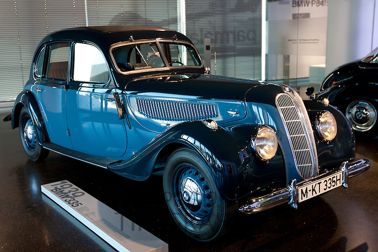 BMW 335, 1939 model car on display  at the BMW Museum and Headquarters in Munich, Bavaria, Germany