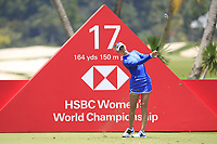 Jessica Korda (USA) in action on the 17th during Round 4 of the HSBC Women's World Championship 2018 at Sentosa Golf Club on the Sunday 4th March 2018.<br /> Picture:  Thos Caffrey / www.golffile.ie<br /> <br /> All photo usage must carry mandatory copyright credit (&copy; Golffile | Thos Caffrey)