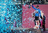 winner of the Maglia Azzurra / KOM leader: Giulio Ciccone (ITA/Trek-Segafredo)<br /> <br /> Stage 21 (ITT): Verona to Verona (17km)<br /> 102nd Giro d'Italia 2019<br /> <br /> ©kramon