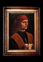 IL MUSICO - THE MUSICIAN<br /> Roma 10/12/2010 Per la prima volta a Roma ai Musei Capitolini il dipinto &quot;il Musico&quot; di Leonardo Da Vinci.<br /> For the first time in Rome, the paint &quot;The Musician&quot; by Leonardo Da Vinci.<br /> Photo Zucchi Insidefoto